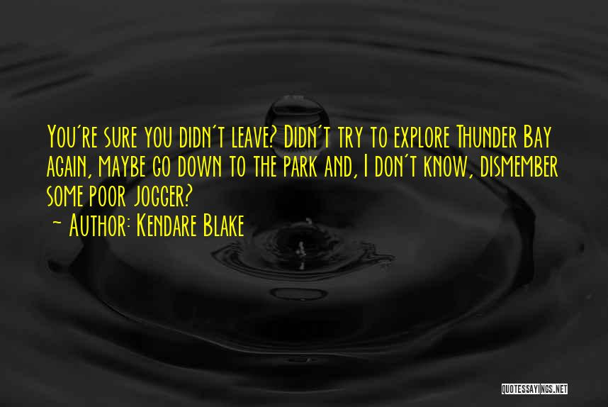 Leave Funny Quotes By Kendare Blake