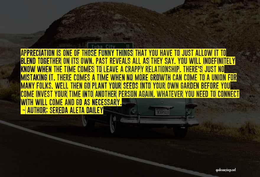 Leave Funny Quotes By Sereda Aleta Dailey