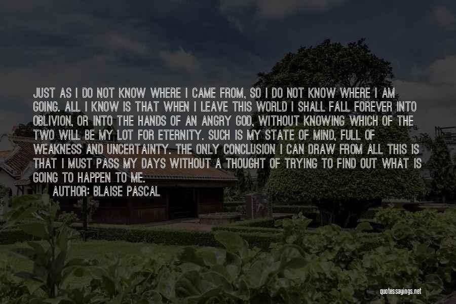 Leave It In God's Hands Quotes By Blaise Pascal