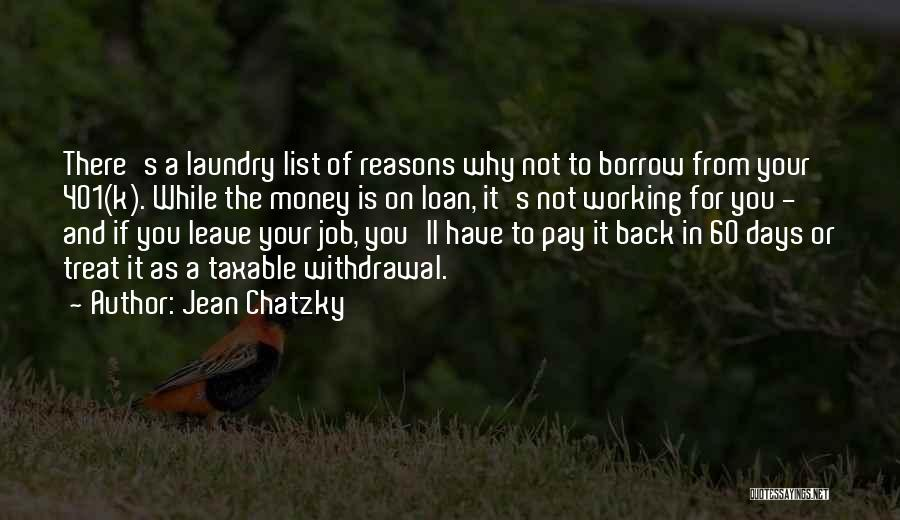 Leave The Job Quotes By Jean Chatzky
