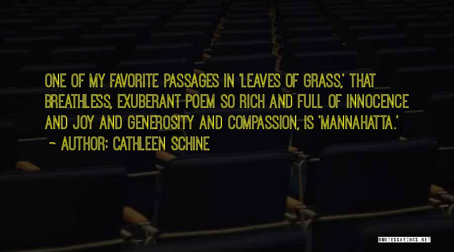 Leaves Of Grass Quotes By Cathleen Schine