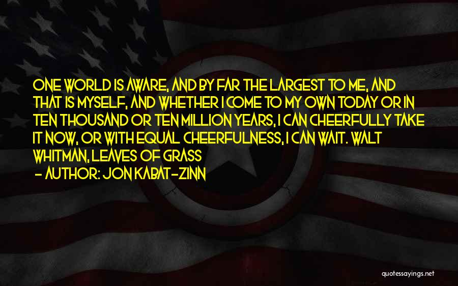 Leaves Of Grass Quotes By Jon Kabat-Zinn