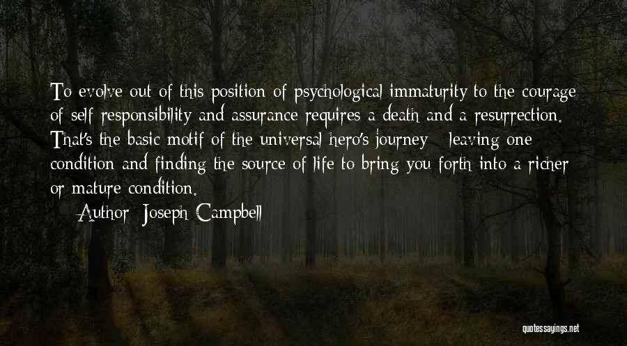 Leaving A Position Quotes By Joseph Campbell