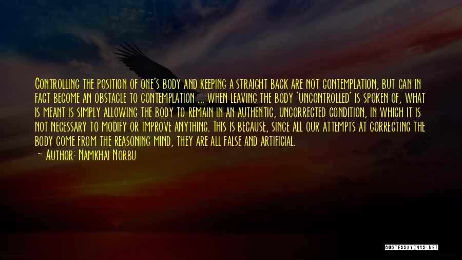 Leaving A Position Quotes By Namkhai Norbu