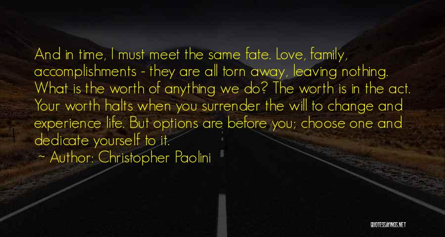 Leaving Life Quotes By Christopher Paolini