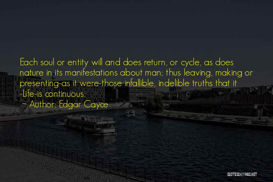 Leaving Life Quotes By Edgar Cayce