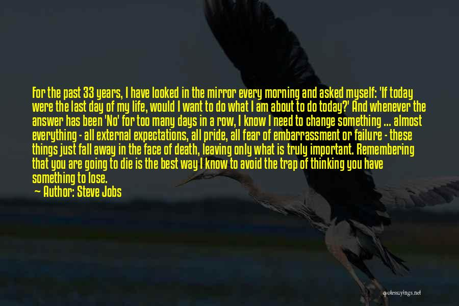 Leaving The Past In The Past Quotes By Steve Jobs