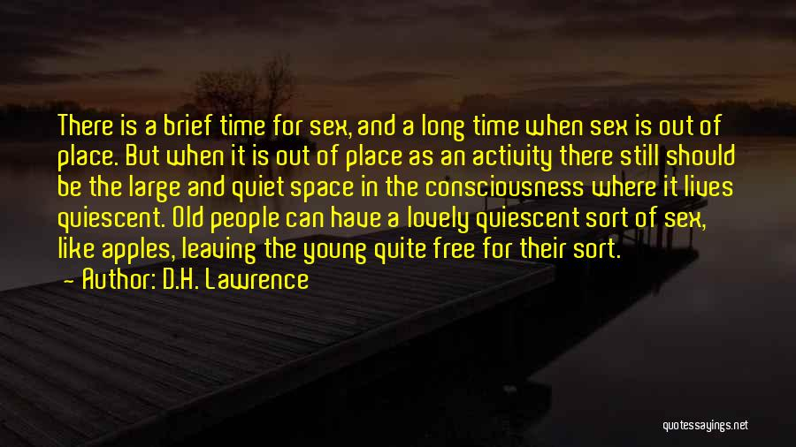 Leaving The Place Quotes By D.H. Lawrence