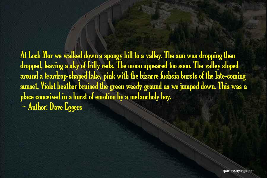 Leaving The Place Quotes By Dave Eggers