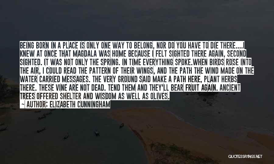 Leaving The Place Quotes By Elizabeth Cunningham