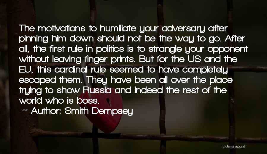 Leaving The Place Quotes By Smith Dempsey