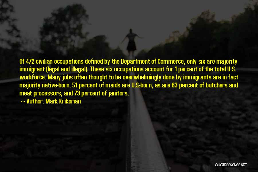 Legal Department Quotes By Mark Krikorian