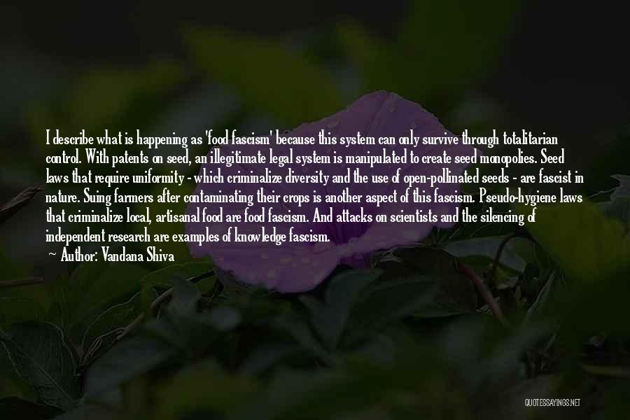 Legal Research Quotes By Vandana Shiva