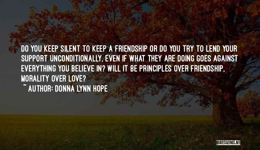 Lend Quotes By Donna Lynn Hope