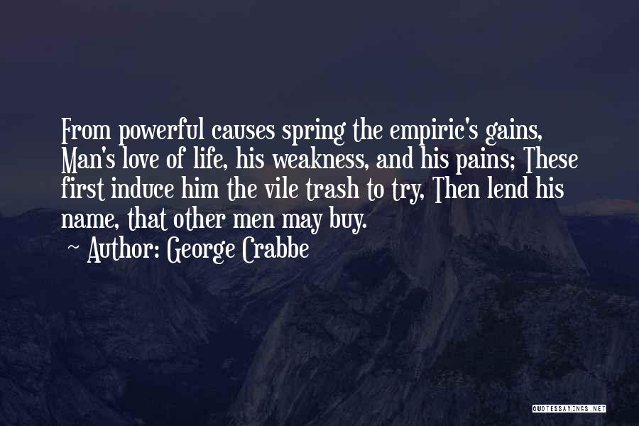 Lend Quotes By George Crabbe
