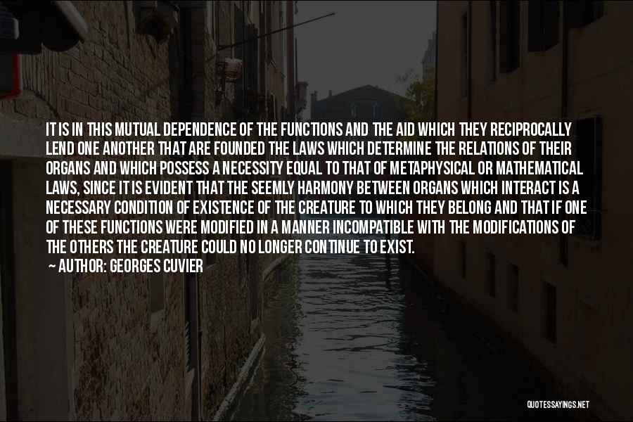 Lend Quotes By Georges Cuvier