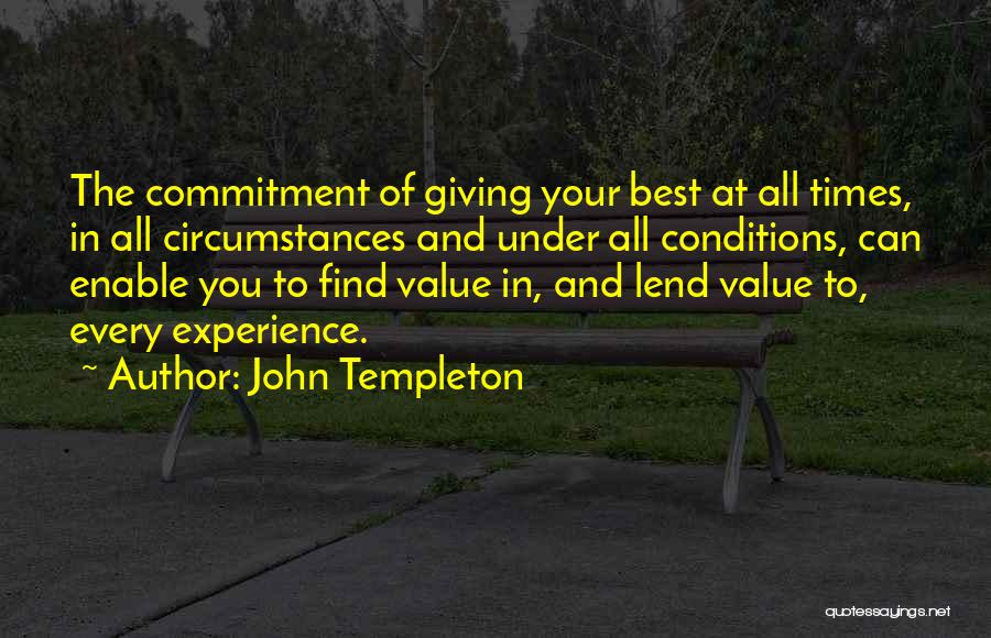 Lend Quotes By John Templeton