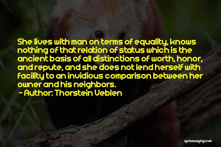 Lend Quotes By Thorstein Veblen