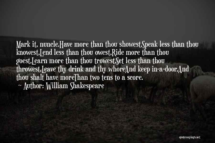 Lend Quotes By William Shakespeare