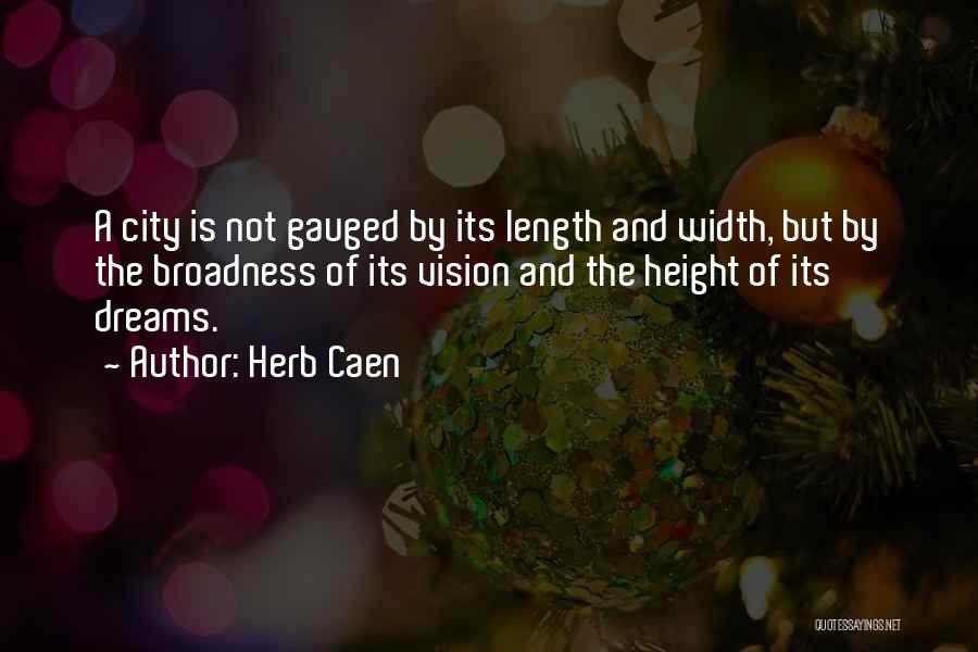 Length Quotes By Herb Caen