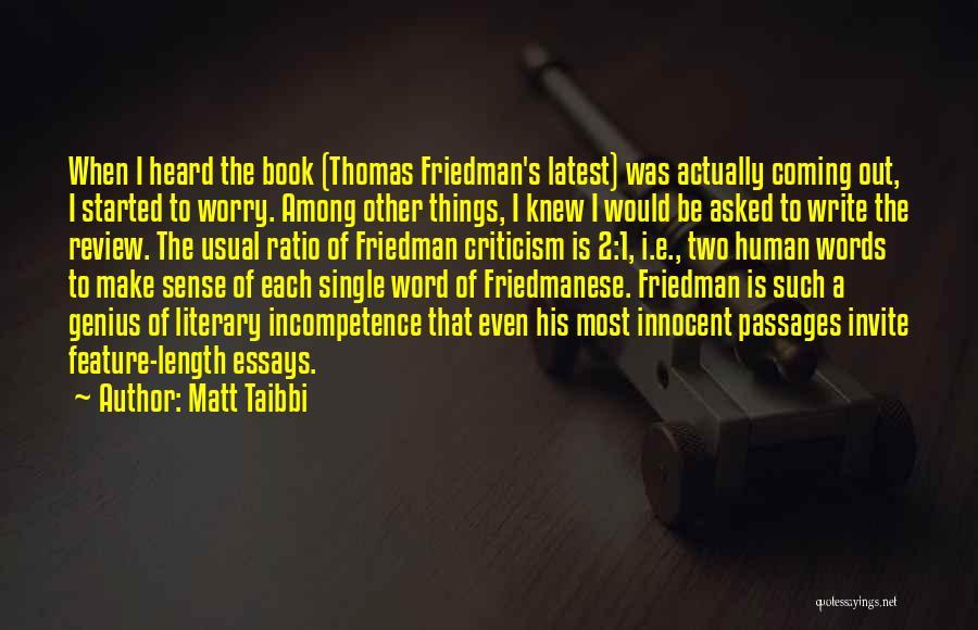 Length Quotes By Matt Taibbi