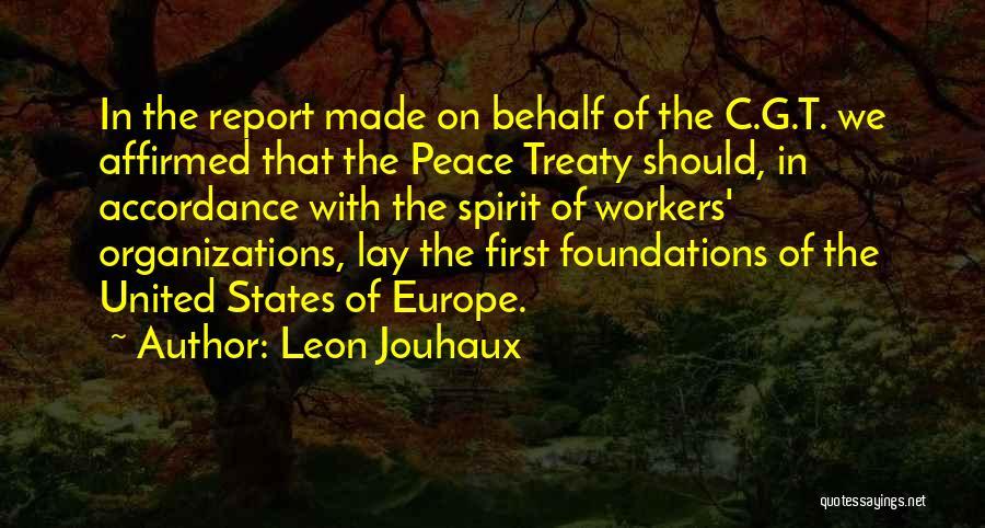 Leon Jouhaux Quotes 335215