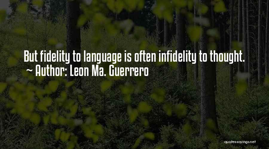 Leon Ma. Guerrero Quotes 285654