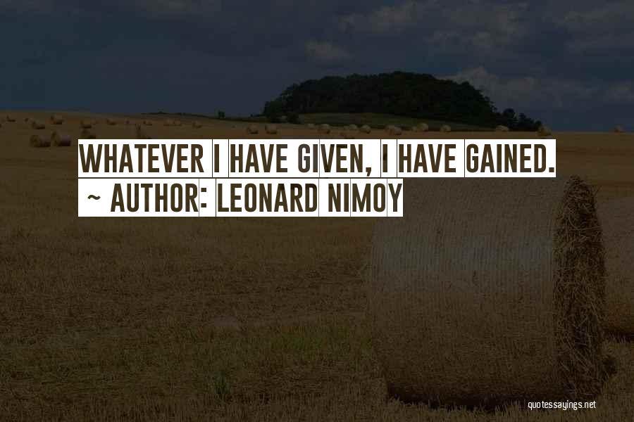 Leonard Nimoy Quotes 377517