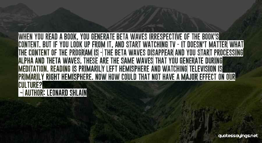 Leonard Shlain Quotes 2250996