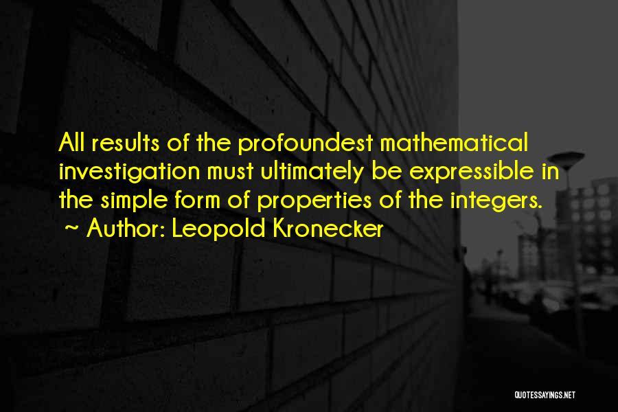 Leopold Kronecker Quotes 1147788
