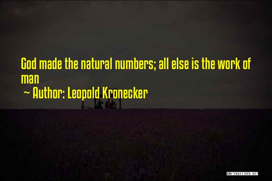 Leopold Kronecker Quotes 1272344