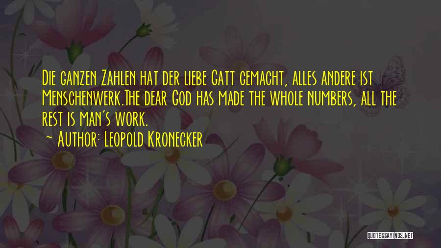 Leopold Kronecker Quotes 503294