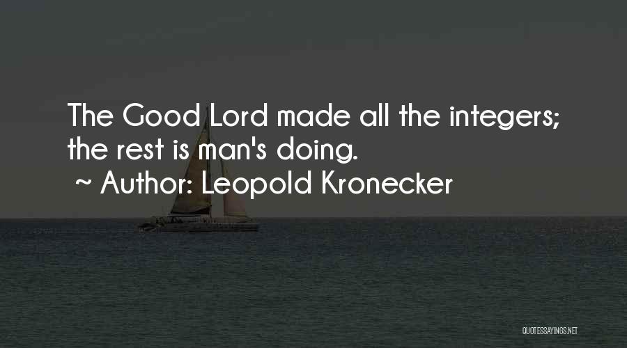 Leopold Kronecker Quotes 526947