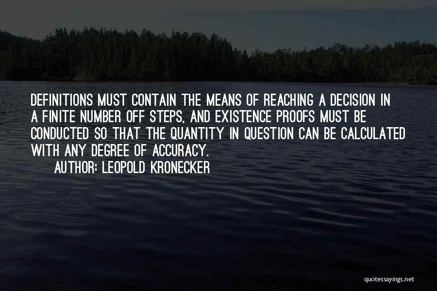 Leopold Kronecker Quotes 631935