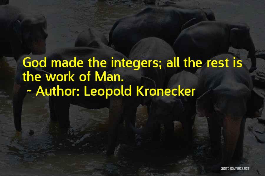 Leopold Kronecker Quotes 769482