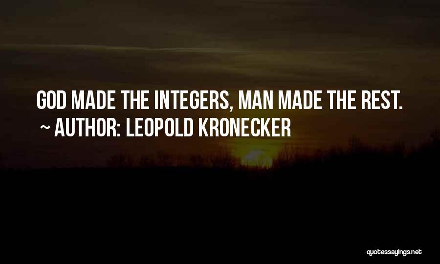 Leopold Kronecker Quotes 993441