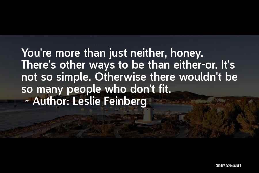 Leslie Feinberg Quotes 1535550