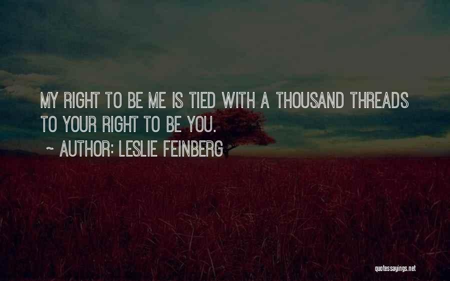 Leslie Feinberg Quotes 231426