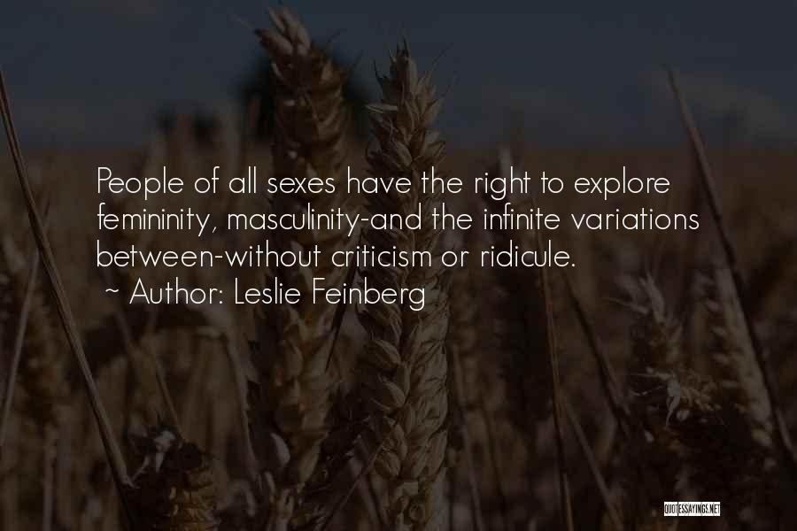 Leslie Feinberg Quotes 282792