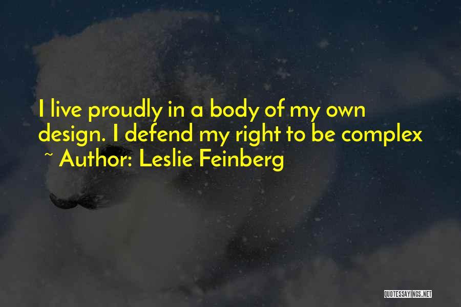 Leslie Feinberg Quotes 505663