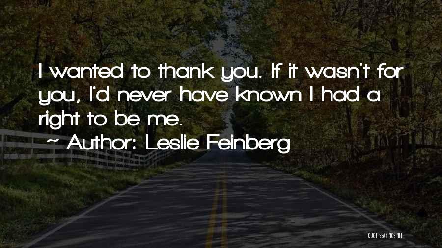 Leslie Feinberg Quotes 87346