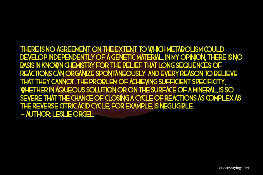 Leslie Orgel Quotes 1074957