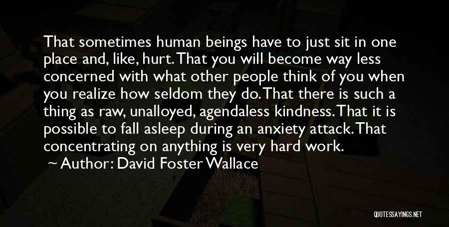 Less Concerned Quotes By David Foster Wallace