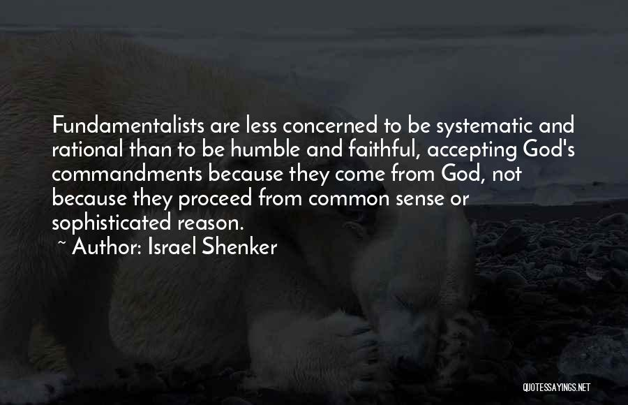 Less Concerned Quotes By Israel Shenker