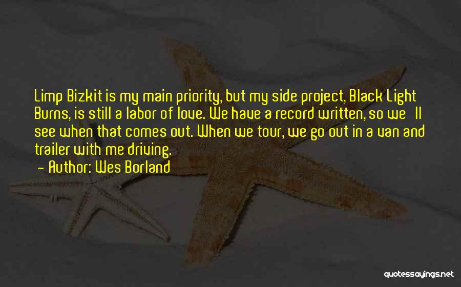 Less Priority Love Quotes By Wes Borland