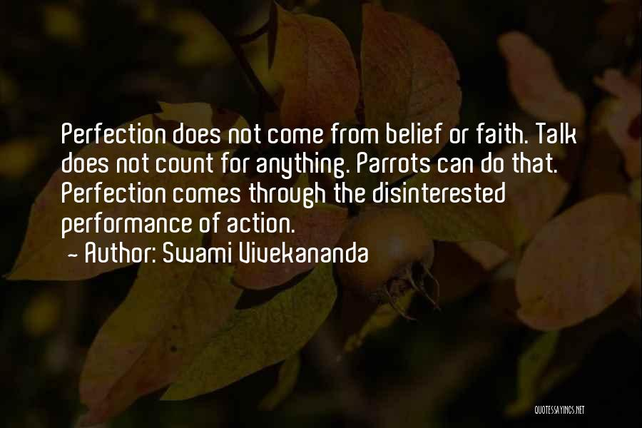 Less Talk More Action Quotes By Swami Vivekananda