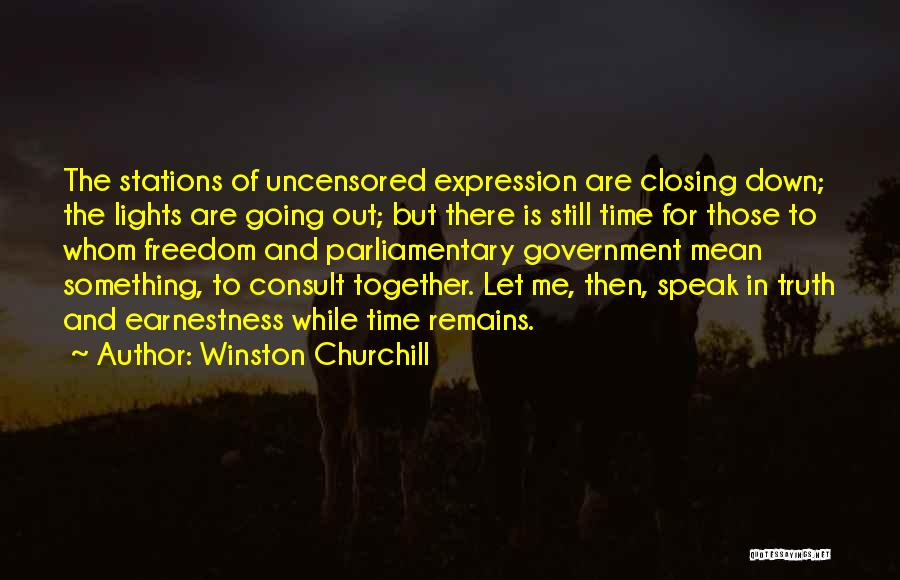 Let Me Down Quotes By Winston Churchill