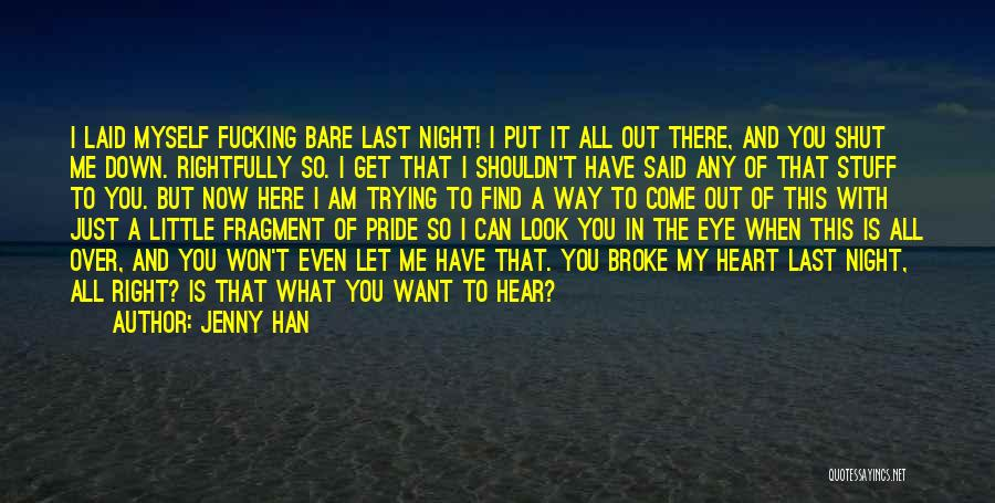Let Me Find Myself Quotes By Jenny Han