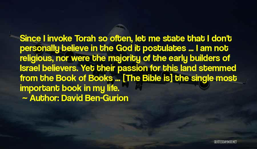 Let Me In Book Quotes By David Ben-Gurion