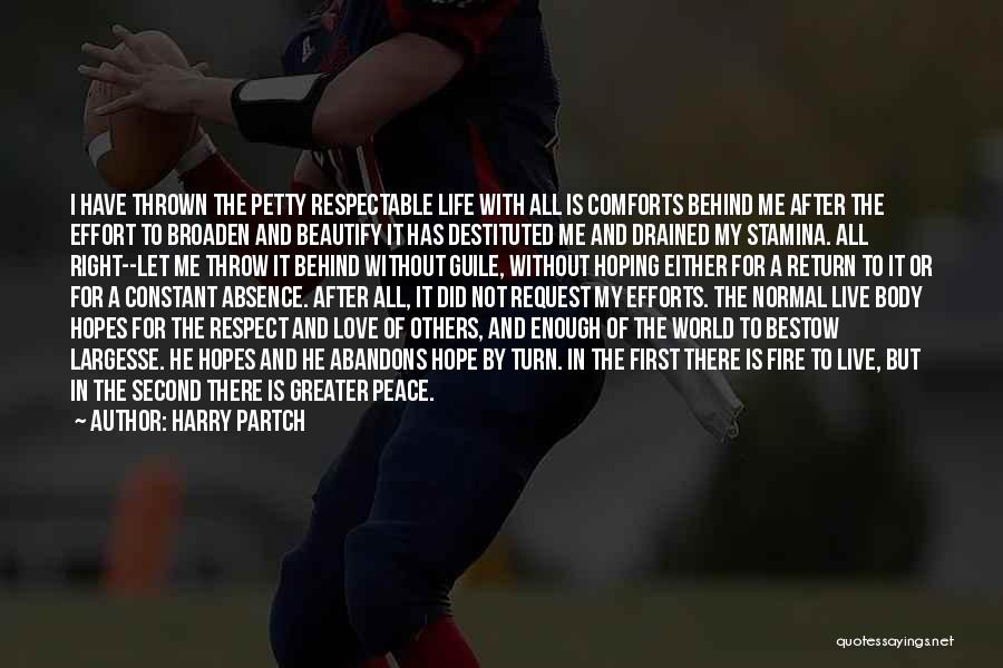 Let Me Live In Peace Quotes By Harry Partch